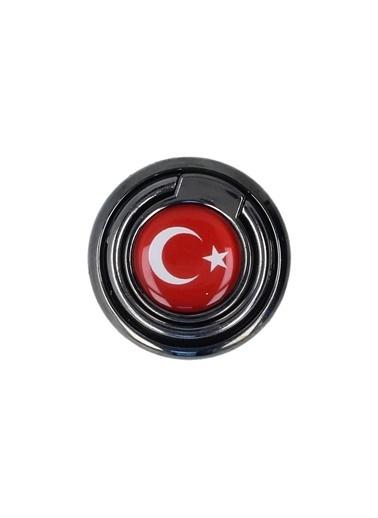 MobilCadde Eiroo Türk Bayraklı Yüzük Telefon Tutucu Renkli